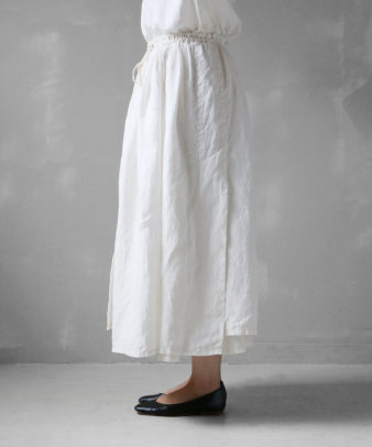 itamuu / Hemp/Organic cotton gaze gather skirt 2pices 3
