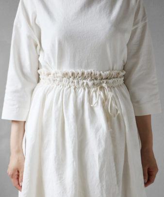 itamuu / Hemp/Organic cotton gaze gather skirt 2pices 4