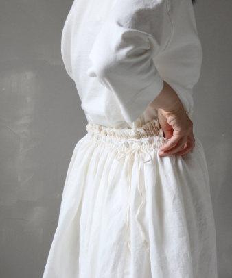 itamuu / Hemp/Organic cotton gaze gather skirt 2pices 5