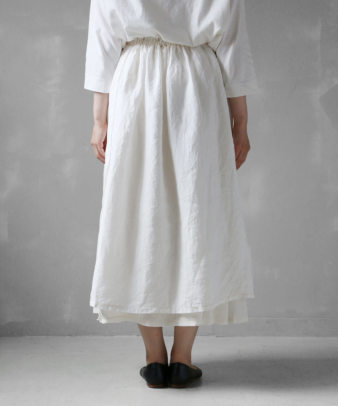 itamuu / Hemp/Organic cotton gaze gather skirt 2pices 6
