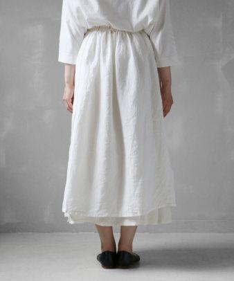 itamuu / Hemp/Organic cotton gaze gather skirt 2pices 6