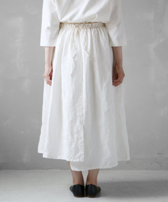 itamuu / Hemp/Organic cotton gaze gather skirt 2pices 7