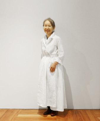itamuu / Hemp/Organic cotton gaze gather skirt 2pices 8