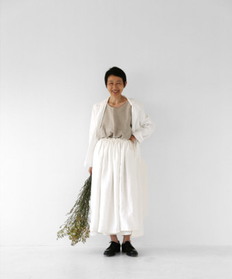 itamuu / Hemp/Organic cotton gaze gather skirt 2pices 9