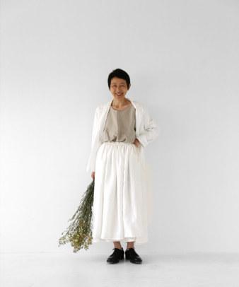 itamuu / Hemp/Organic cotton gaze gather skirt 2pices 9