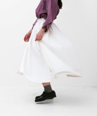 itamuu / Hemp/Organic cotton gaze gather skirt 2pices 13