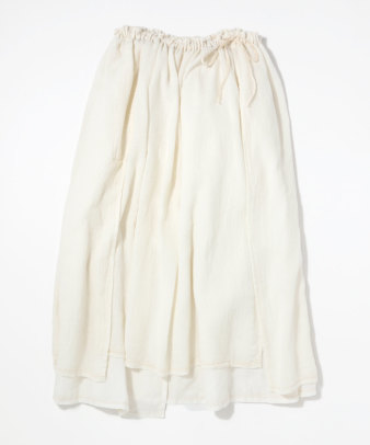 itamuu / Hemp/Organic cotton gaze gather skirt 2pices 15