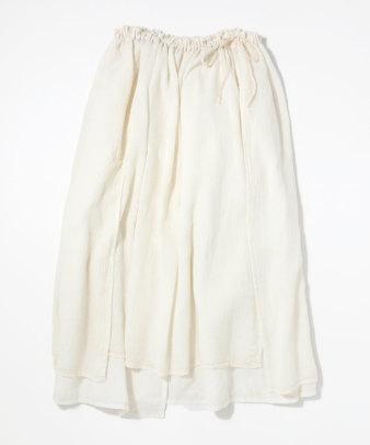 itamuu / Hemp/Organic cotton gaze gather skirt 2pices 15