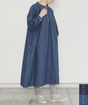 Sorte cuff / デニムボリューム袖ワンピース