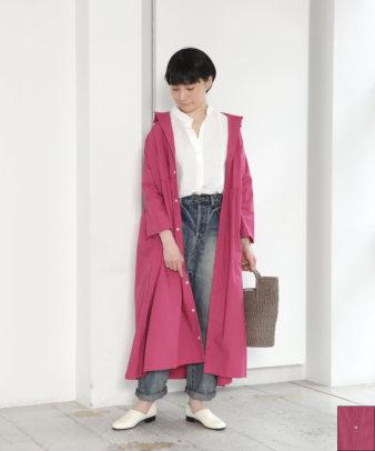 【オンライン限定】ichi / タイプライター半端袖シャツワンピース