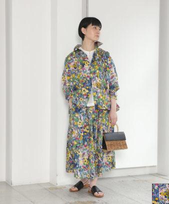 ichi / コットン油絵プリント花柄シャツ