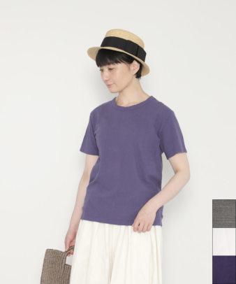 【オンライン限定】ichi Antiquites / スラブコットンクルーネックTシャツ