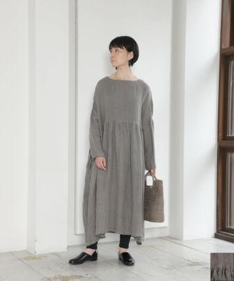 【オンライン限定】ichi Antiquites / 東炊きリネンワンピース