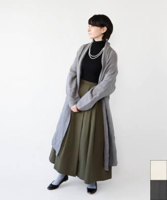 【オンライン限定】ICHI Antiquites / 東炊きリネンロングガウン