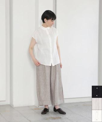【20%off】mumokuteki / リネン重ね襟プルオーバーブラウス