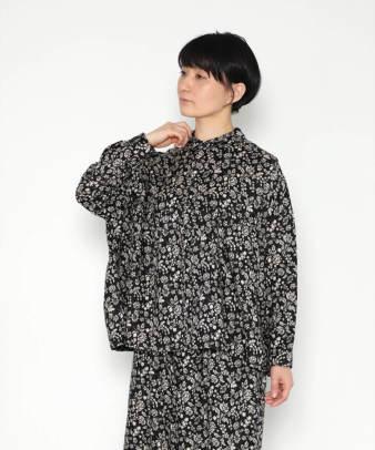【オンライン限定】ICHI Antiquite's / リネンフラワープリントシャツ