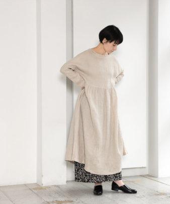 【オンライン限定】ICHI Antiquite's / ワッフルリネンワンピース