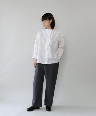 mumokuteki / リネン長袖ダブルボタンシャツ_2