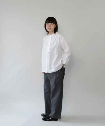mumokuteki / リネン長袖ダブルボタンシャツ_4