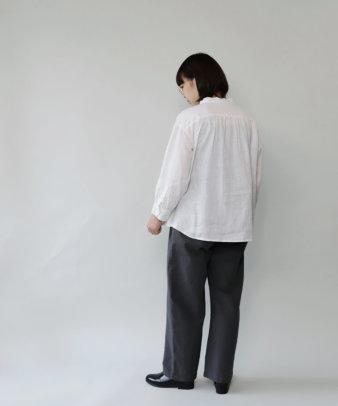mumokuteki / リネン長袖ダブルボタンシャツ_5
