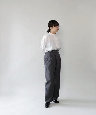 mumokuteki / リネン長袖ダブルボタンシャツ_6