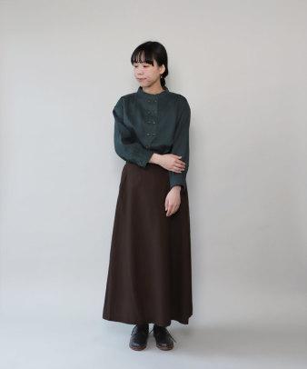 mumokuteki / リネン長袖ダブルボタンシャツ_9
