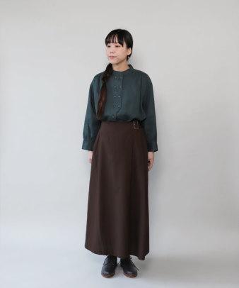 mumokuteki / リネン長袖ダブルボタンシャツ_11