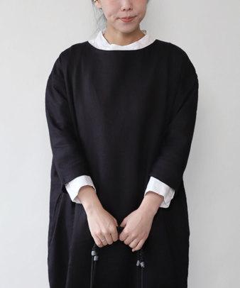 mumokuteki / リネン長袖ダブルボタンシャツ_12
