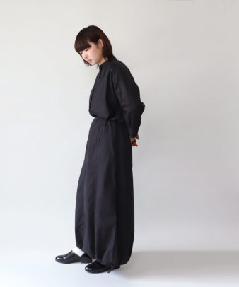mumokuteki / リネン長袖ダブルボタンシャツ_14