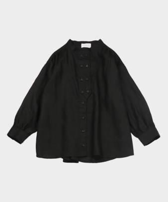 mumokuteki / リネン長袖ダブルボタンシャツ_19