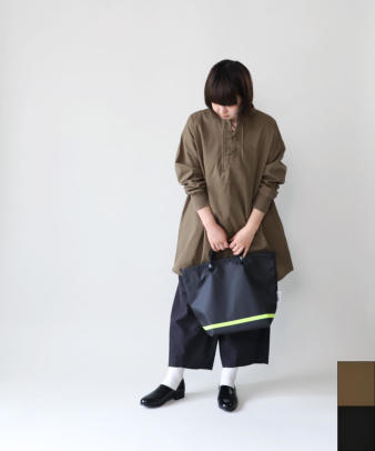 khakito / コットンプルオーバーレースアップトップス_1