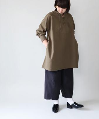 khakito / コットンプルオーバーレースアップトップス_4
