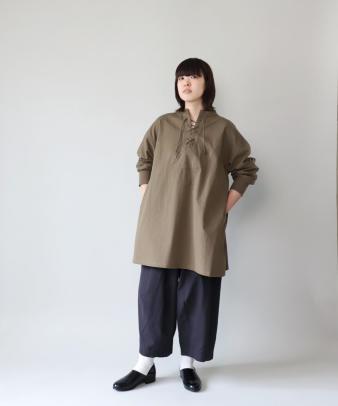 khakito / コットンプルオーバーレースアップトップス_5