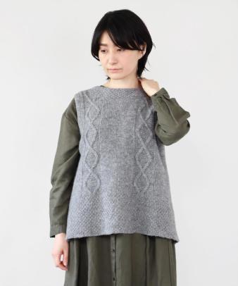 mumokuteki / ウールバック開きベスト_9