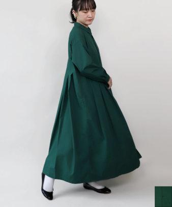 【WEB限定】ichi / 鮮やかなグリーンのシャツワンピース