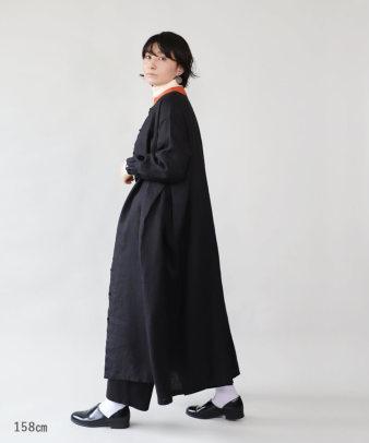 mumokuteki / リネン素材の前開きワンピース_6