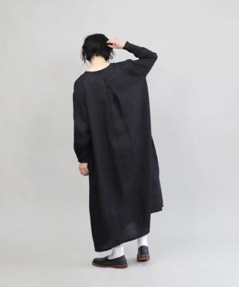 mumokuteki / リネン素材の前開きワンピース_12
