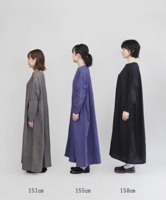 mumokuteki / リネン素材の前開きワンピース_14