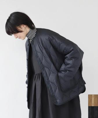 doux bleu / ゆったりワイドなキルティングジャケット_1