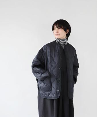 doux bleu / ゆったりワイドなキルティングジャケット_2