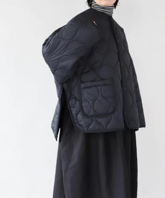 doux bleu / ゆったりワイドなキルティングジャケット_4