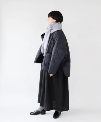 doux bleu / ゆったりワイドなキルティングジャケット_5