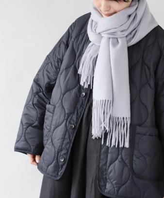 doux bleu / ゆったりワイドなキルティングジャケット_6