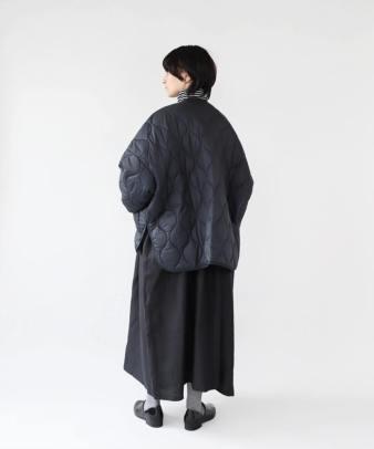 doux bleu / ゆったりワイドなキルティングジャケット_7