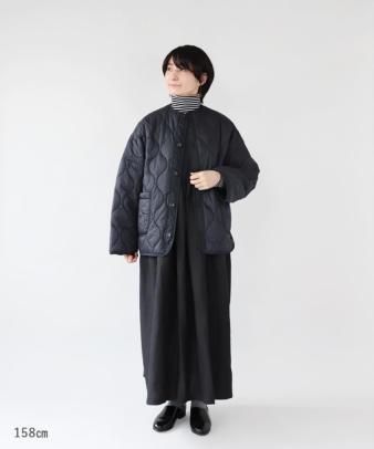 doux bleu / ゆったりワイドなキルティングジャケット_8