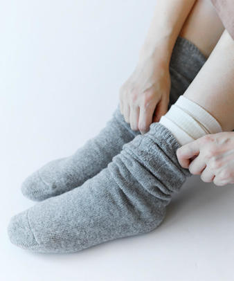 くらしきぬ / 冷えとり靴下 基本4足セット しっかりウールタイプ