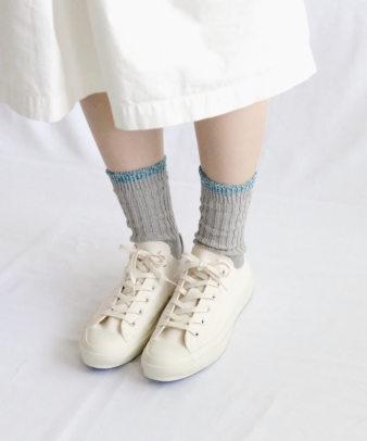NISHIGUCHI KUTSUSHITA / シルクコットン天竺ソックス(S、Mサイズ)