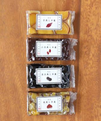 若山商店 / 蒸し羊羹(お芋・小豆・黒豆)