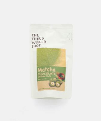 【¥500クーポン対象商品】第3世界ショップ / 粒チョコレート 抹茶チョコ×カシュー
