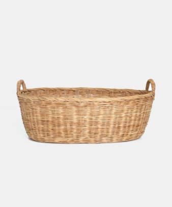 Siam / ラタンふち付き楕円バスケット Lサイズ